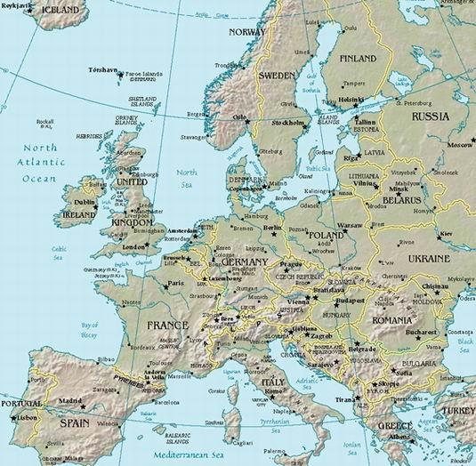 paises de europa. mapa europa paises.