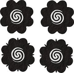 Motif bunga terong, motif tato para panglima Dayak.