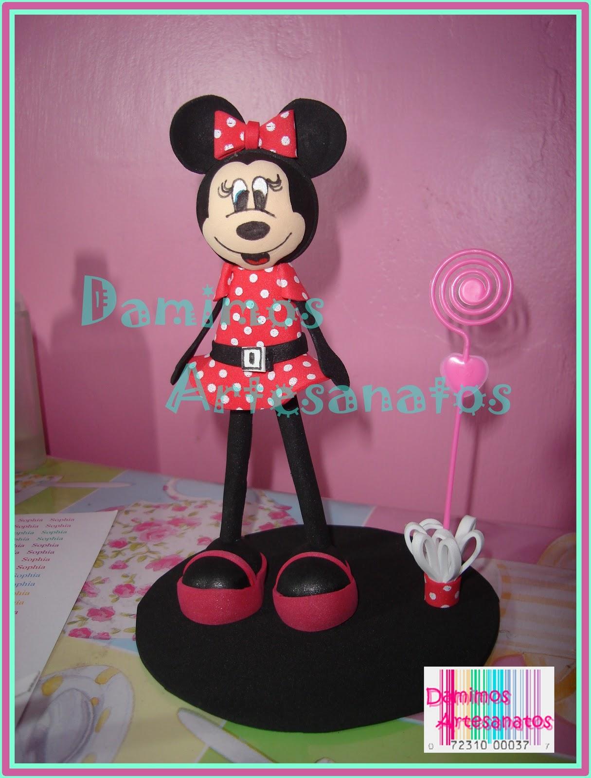 Artesanato Reciclavel Facil ~ DAMIMOS ARTESANATOS Torcedor do Xavante e Minnie Mouse