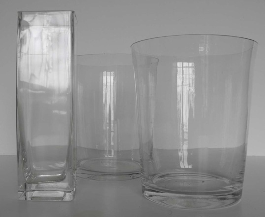 floreros vidrio cnicos diam alt m