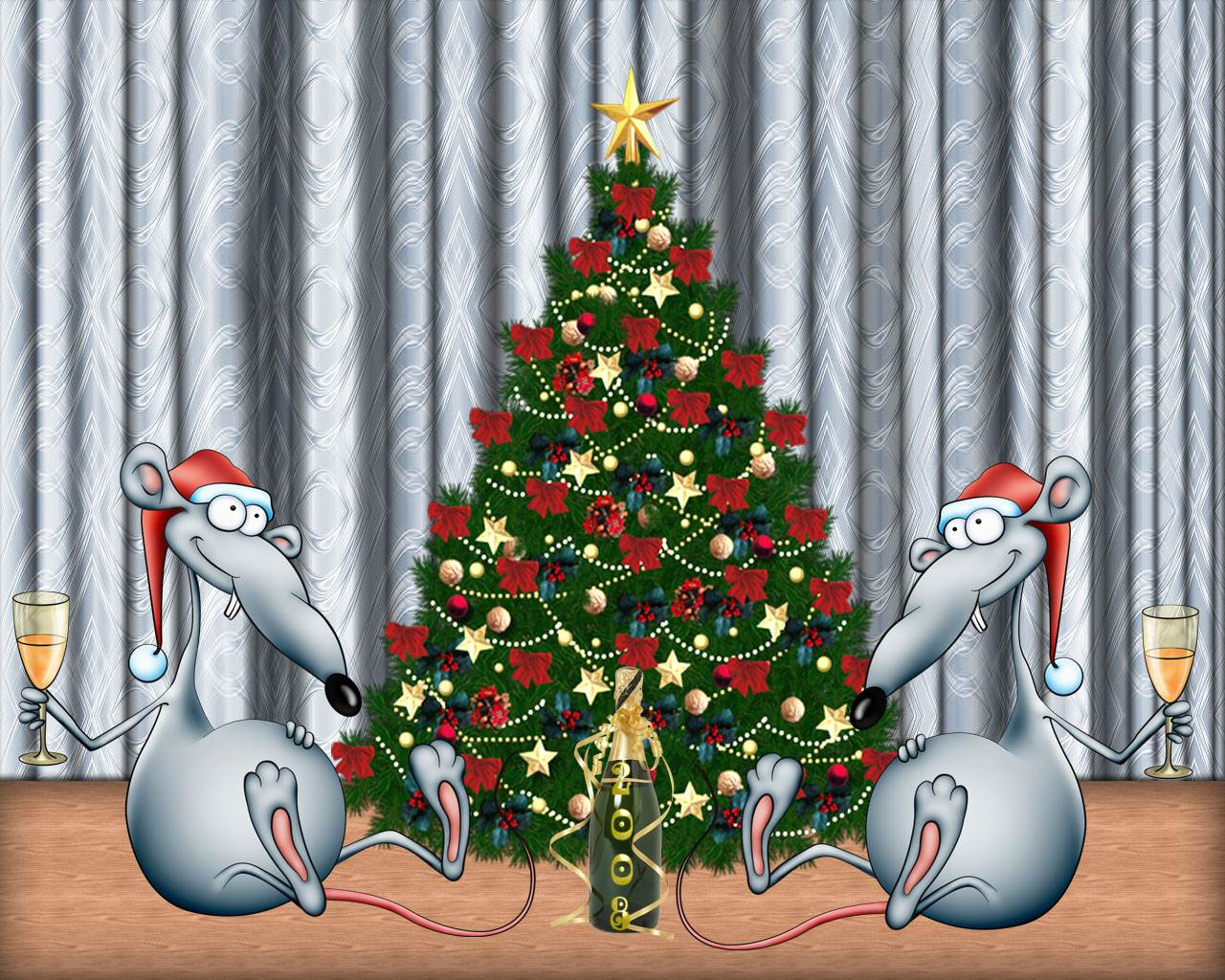 funny christmas wallpapers