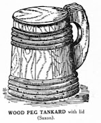 Saxon Wood Peg Tankard