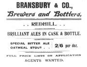 One further Bransbury Advert, c1912