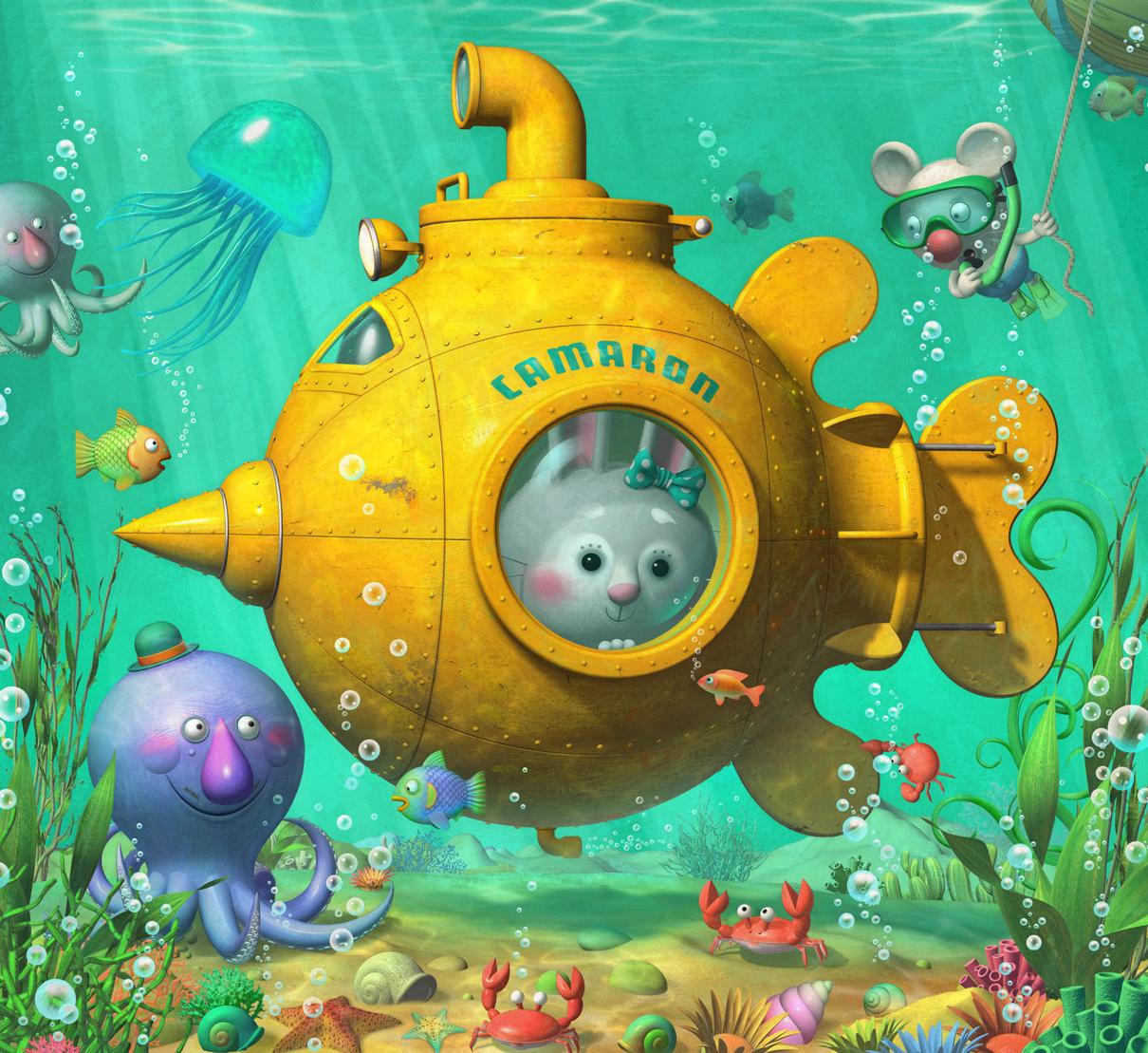 La pecera viaje al fondo del mar for Jardin de genios revista 2016