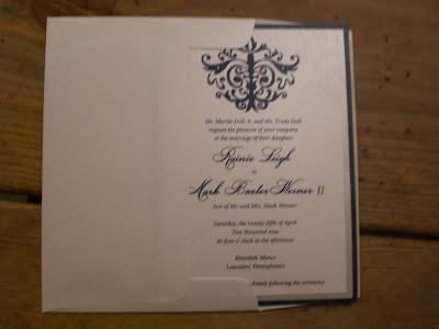 stella bella invites rainie s panel pocket invite sample