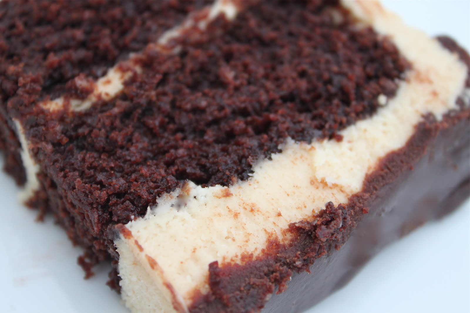 Sour Cream Chocolate Cake with Peanut Butter Frosting and Choco-Peanut ...