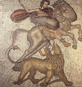Mosaico de Belerofontes y la Quimera
