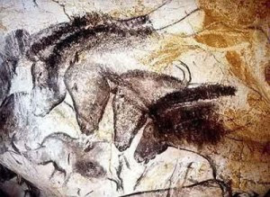 Pintura en cueva de Caballos Przewalskii