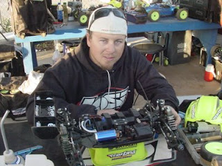 Keven Gahan displays his 8IGHT-E equipped with a 1/8-scale Xcelorin Brushless Motor and ESC
