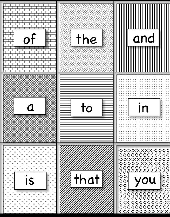 Sight Word Flash Card Template Kindergarten Sight Word Flash