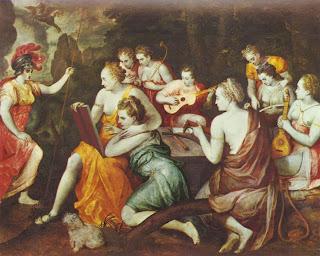Atenea junto a las Musas, Frans Floris