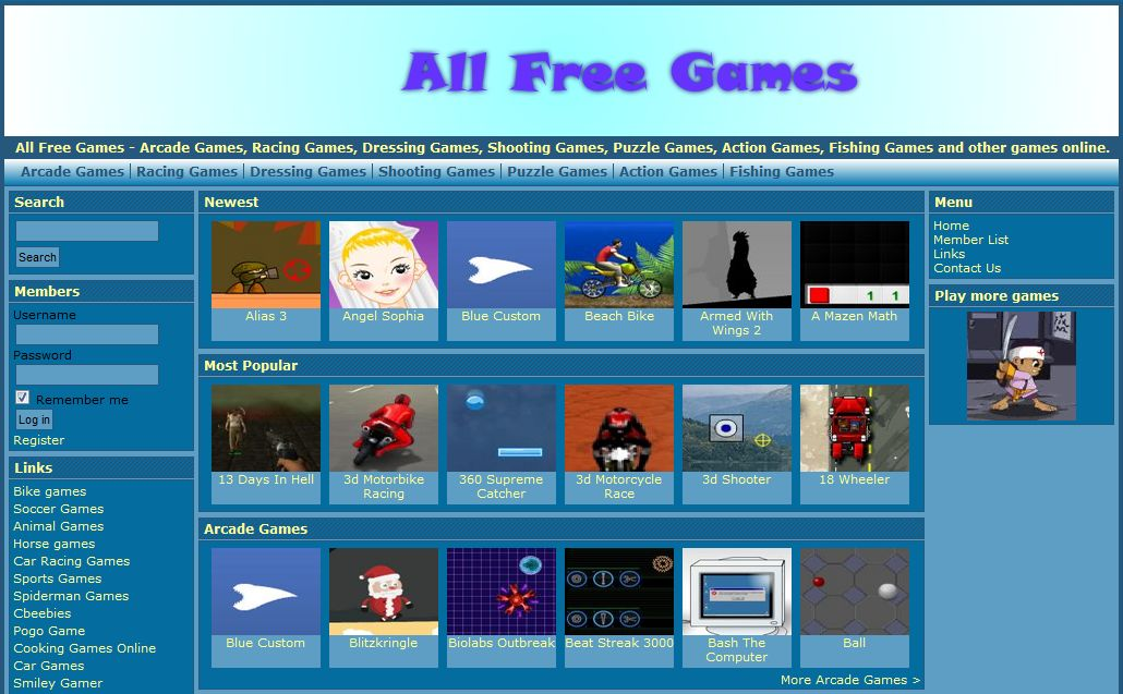 all free games