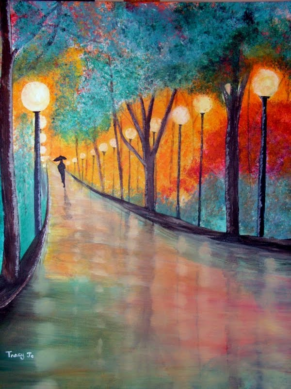 Spiritual brush strokes rainy day dream painting for Mural inspiration