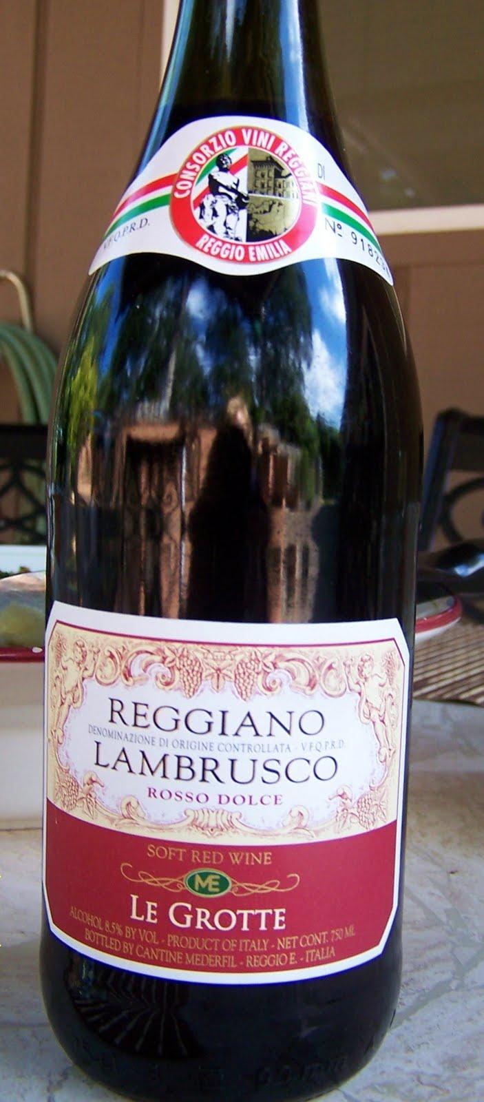 The Edible Life Reggiano Lambrusco Le Grotte Rosso Dolce