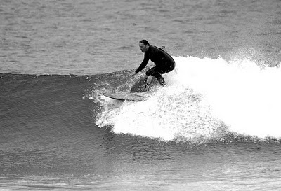 Dave Barnwell surfing