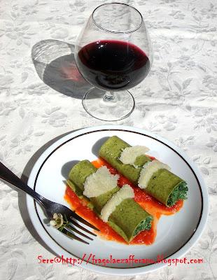 cannelloni con ricotta e spinaci