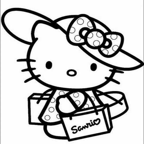 Disegni da colorare di hello kitty versione natalizia for Disegni da colorare hello kitty