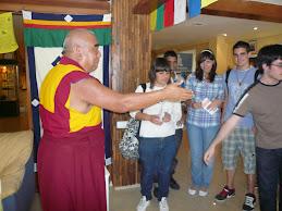 En el centro budista