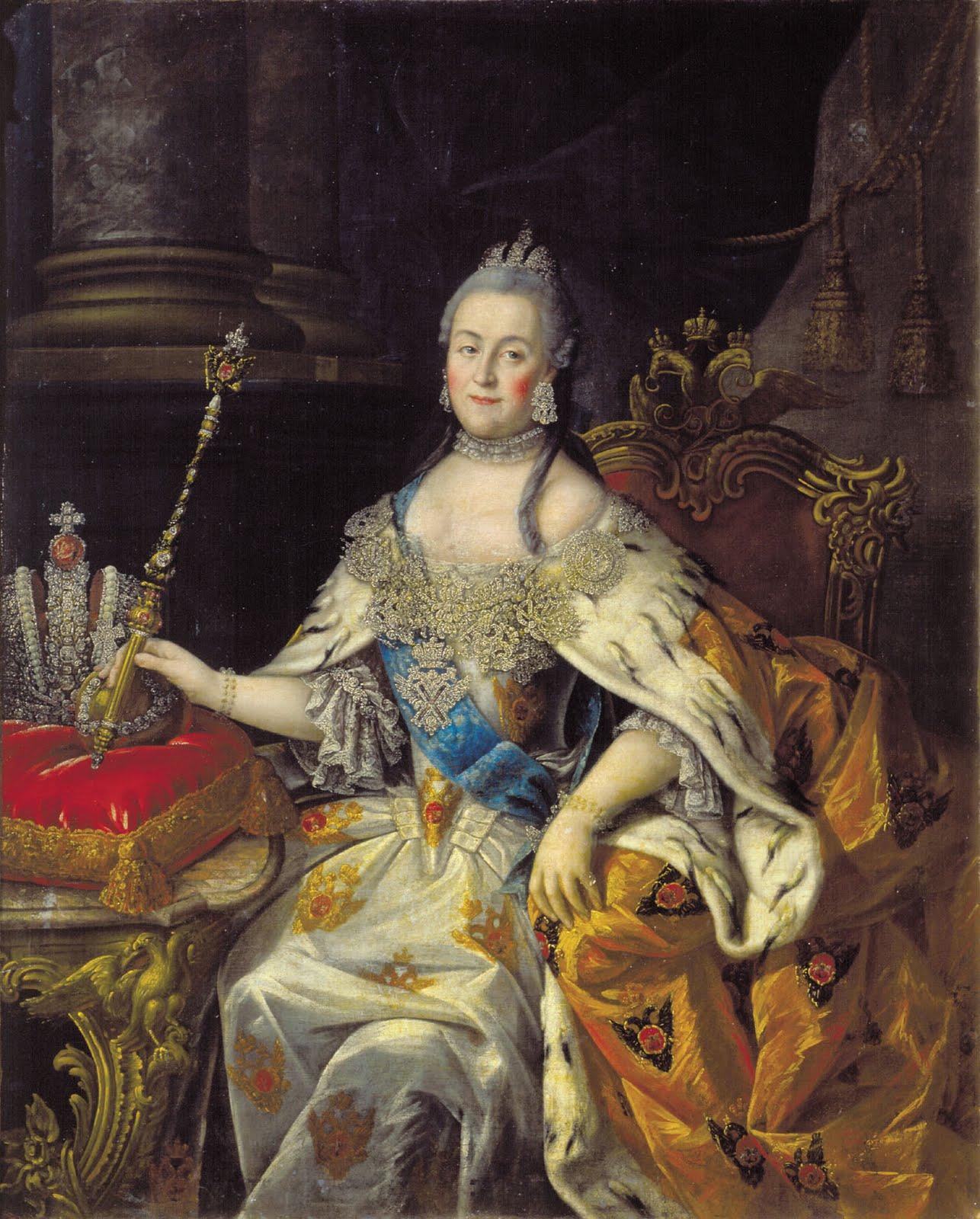 catalina ii de rusia murió al ser penetrada por un caballo