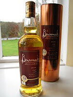 benromach 10 years old with the river spey in the background