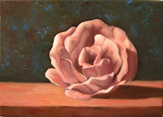 Daily Oil Painting, Still Life, Rose