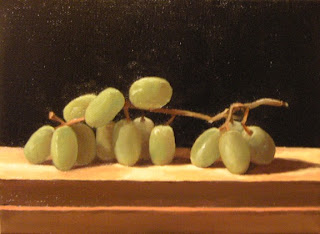 Daily Painting, Oil, Still Life, Centipede, Grapes