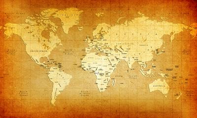 Antiqued Modern World Map wallpaper Fox is the New Pravda Olbermann on Heal