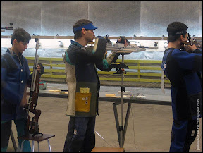 Photo: Olympic Champion Artem Khadjibekov tests Air Rifle designed by Demyan