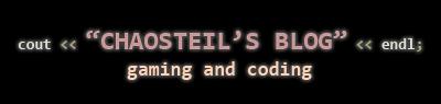 Chaosteil's Blog