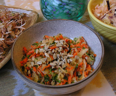 Sauerkraut Salad with Carrots and Parsley