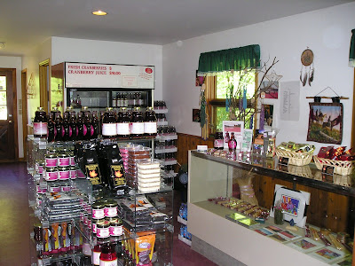 Inside the Wahta Mohawk cranberry store