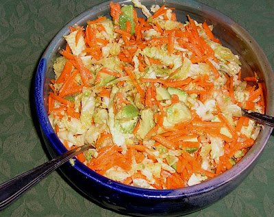 Cabbage, Carrot and Avocado Salad