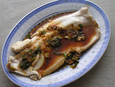 Braised Whitefish with Ginger and Green Onions