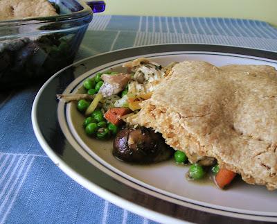 Chicken Pot Pie with Biscuity Crust