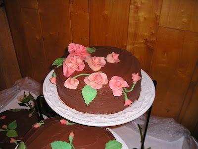 Gluten Free Wedding Cake - Marzipan Roses