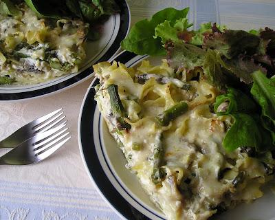 Asparagus and Mushroom Kugel