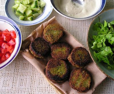 Falafel Patties with Tahini Sauce