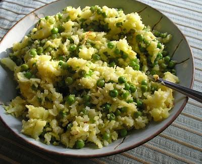 Saffron Cauliflower with Peas