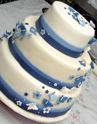 Butterfly Wedding Cake on Sweet Tooth Haven  Blue Butterfly Wedding Cake