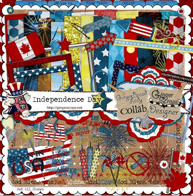 Gingerscraps Independence Day Blog Train Freebies!