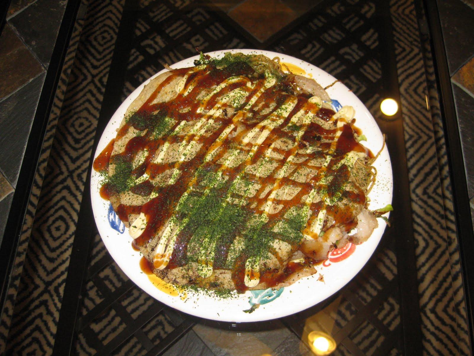... okonomiyaki hiroshima style i am from hiroshima we serve osaka style