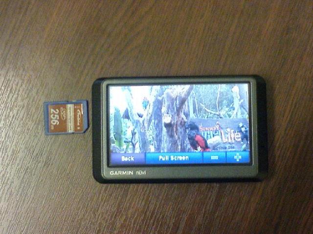 Using Garmin Nuvi 255w GPS as a digital photo frame