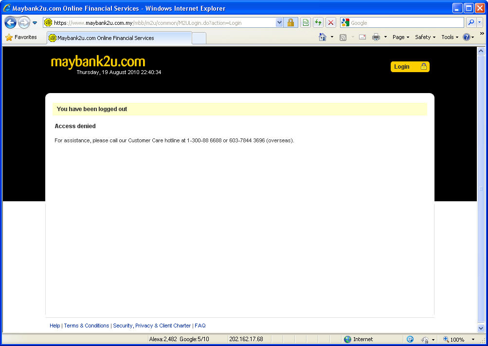 how to pass access denied website