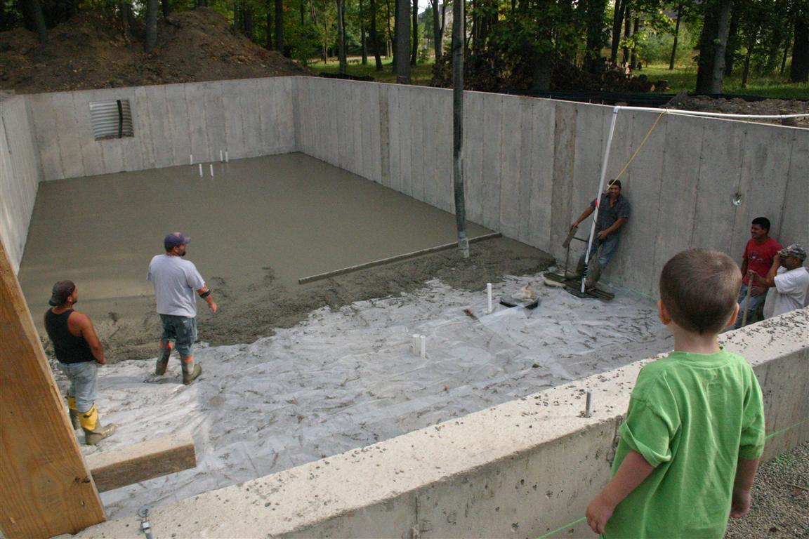 Can 39 t take the sky from me september 2010 for Pouring a basement