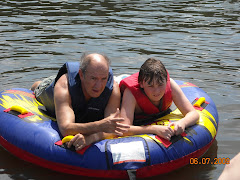 Tubing with Annette's grandson Matt
