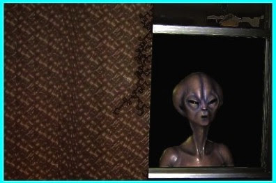 Alien Outside Window