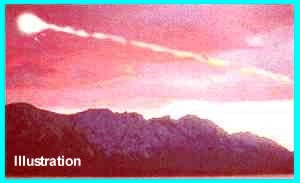Fireball Over Mountains