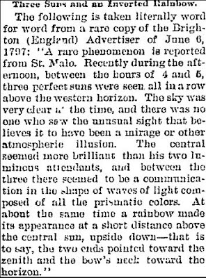 Three Suns and an Inverted Rainbow - Daily Nor'Wester, 12-10-1894
