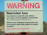 Area 51 Warning Sign