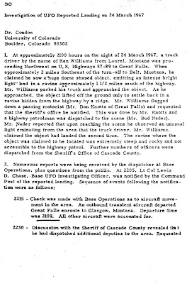 Investigation of UFO Reported Landing on 24 March 1967 (Malmstrom AFB)[A]